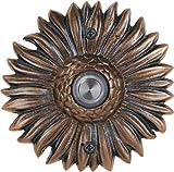 Waterwood Solid Brass Sunflower Doorbell in Oil Rubbed Bronze