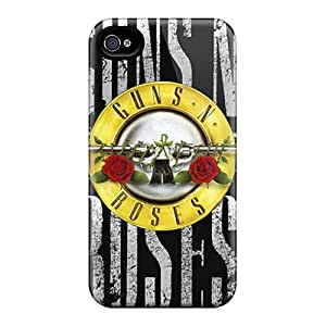Iphone 4/4s RSe14223vMIU Support Personal Customs Fashion Guns N Roses Pattern Shock-Absorbing Hard Cell-phone Cases -Marycase88