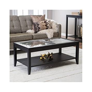 Amazon.com: mesa de centro con parte superior de vidrio ...