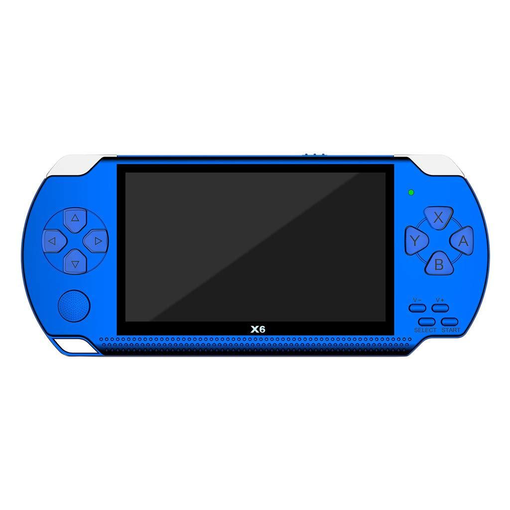 Matoen 4.3 Inch PSP Handheld Game Portable Video Handheld Game Console Player 10000 Games 32Bit 8GB Arcade X6 Hot (Blue) by Matoen (Image #1)