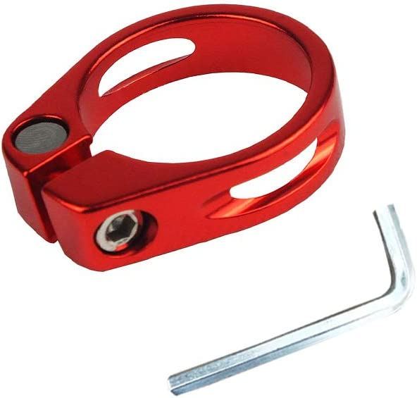 Material Aluminiumlegierung Fahrrad Sattel Klemmring Sattelst/ütze in 31.8mm /& 34.9mm f/ür Mountainbike DAZISEN Fahrrad Sattelst/ützenklemme Schwarz//Rot//Blau//Gold//Silber