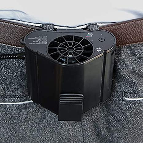 Color : Black, Size : 8.310.2cm Fan Hanging Waist Fan Outdoor Cooling Portable Air Conditioner Fan Site Worker Out for Work Portable Tingting