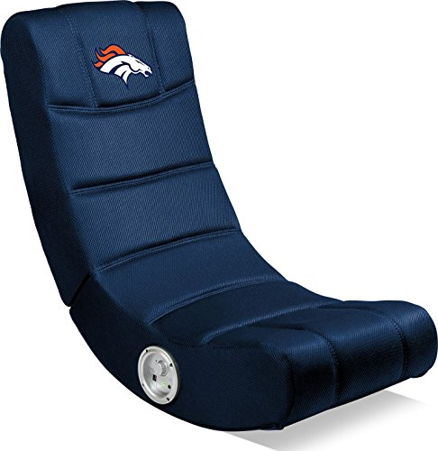 Denver Video Chair Broncos (Imperial Officially Licensed NFL Furniture: Ergonomic Video Rocker Gaming Chair with Bluetooth, Denver Broncos)