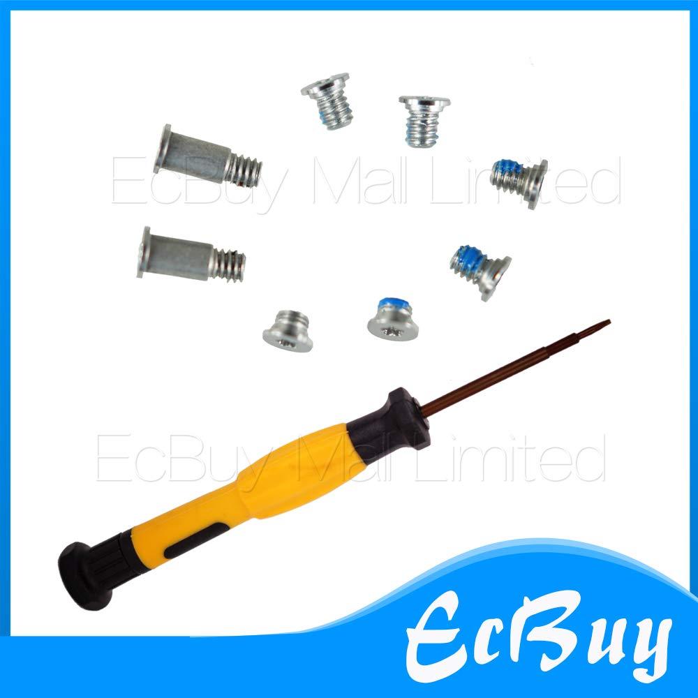 Computer Cables Yoton 8pcs/Lot Silver Bottom Case Screw Screws+Screwdriver for 12'' MacBook A1534 - (Cable Length: 5sets, Color: Silver)