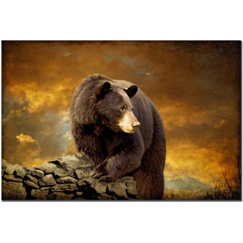 The Bear Went Over the Mountain by Lois Bryan, 16x24-Inch Canvas Wall Art (Wall Bear Canvas Art)