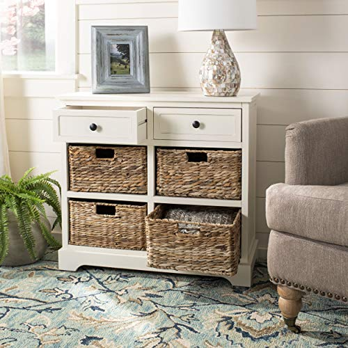 Safavieh American Homes Collection Herman Distressed Cream Storage Unit ()