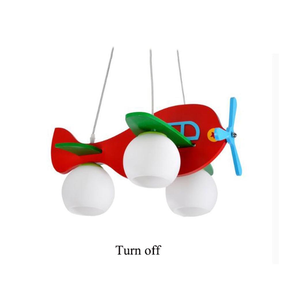 Uncle Sam LI- Kinder Rot Flugzeug Pendelleuchte LED Kreative Junge Baby Kinderzimmer Cartoon Kronleuchter, 50  75 cm