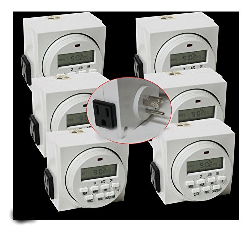 Lot (6)7 Day Dual Outlet Switch Digital Electric Light Timer 15A 1725W UL LISTED