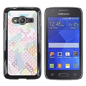 TopCaseStore / la caja del caucho duro de la cubierta de protección de la piel - Pattern Shapes Abstract Light - Samsung Galaxy Ace 4 G313 SM-G313F