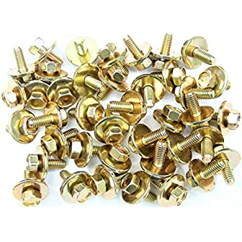17mm Washer Scion Body Bolts #180 10mm Hex M6-1.0 x 16mm Long 20 bolts