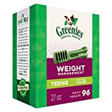 GREENIES Weight Management Dental Dog Treats, Teenie, 96 Treats, 27 oz.