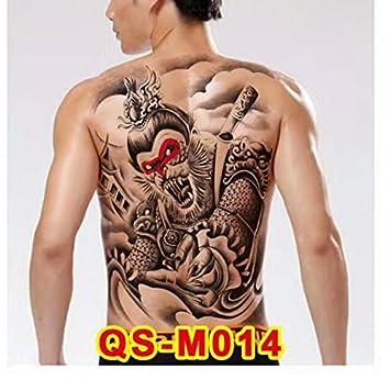 yyyDL Etiqueta engomada del tatuaje temporal Diseños grandes de ...