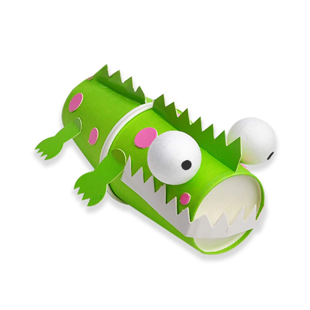 Mini-Factory Kids Early Learning Education Play DIY Cute Animal Creative Paper Plates Art Kit 8Pcs