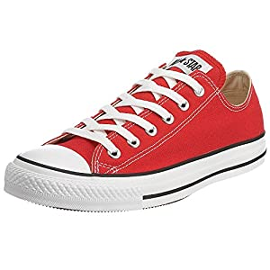 Converse Unisex Chuck Taylor All Star Ox Canvas Sneakers (8 B(M) US Women / 6 D(M) US Men, Red)