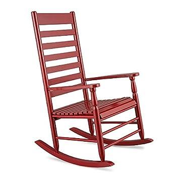 Rojo clásico tradicional porche Rocker mecedora al aire libre Patio ...