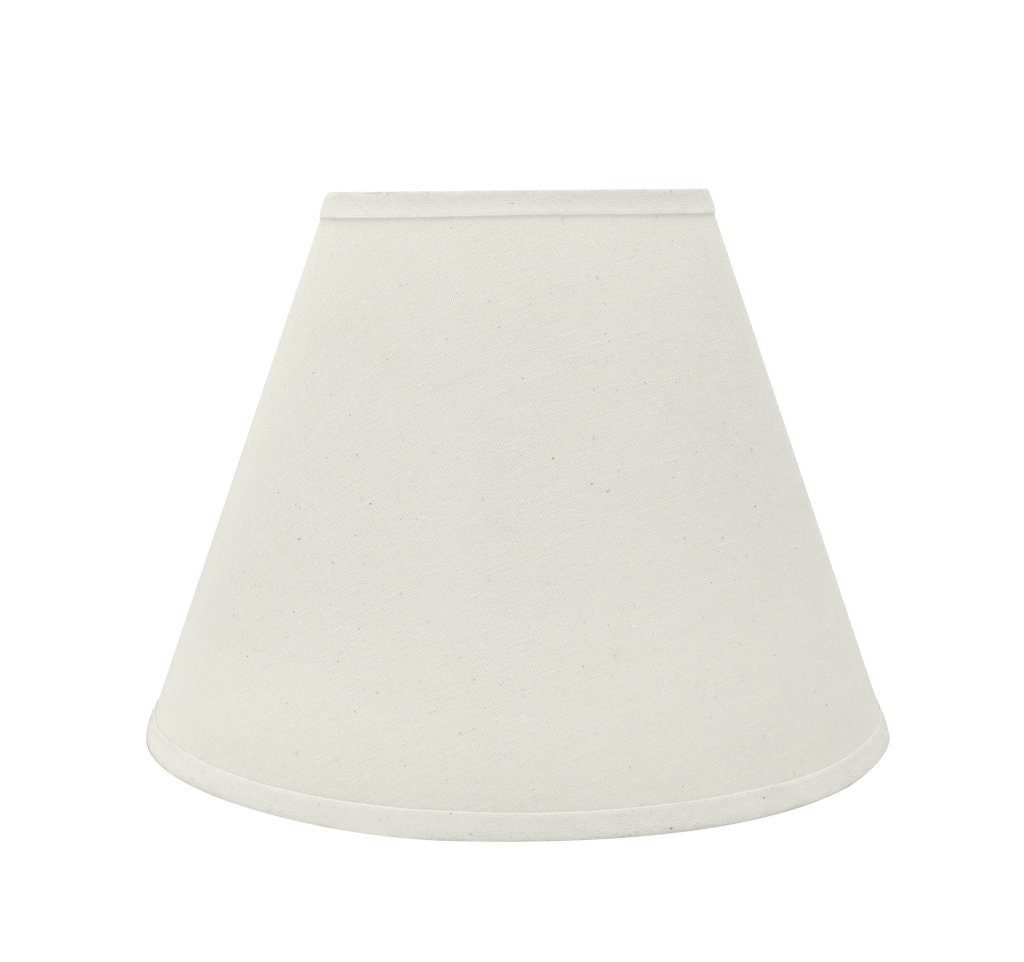 Aspen Creative 32197 Transitional Hardback Empire Shaped Spider Construction Lamp Shade in Off White, 12'' Wide (6'' x 12'' x 9'')