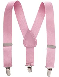 Hold'Em Suspender for Kids Boy USA Made Polished Clip Genuine Leather Crosspatch