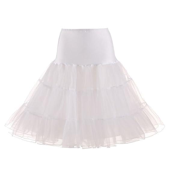 ✿ Zolimx Tutu Falda de Mujer Falda de Tul 50s Short Ballet 3 ...