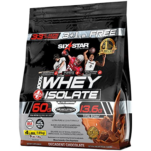 Six Star 100% Whey Isolate Protein Powder, Decadent Chocolate, 4 Pound