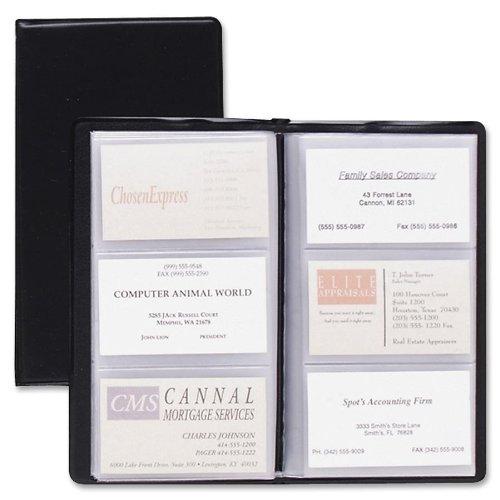 TOPS Cardinal Sealed Vinyl 72 Card File, Black, (751 610)