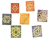 Set of 7 Engraved Pyramid Chakra Set -- 7 (Seven) Pyramid Shaped Chakra Stone - Metaphysical - Reiki