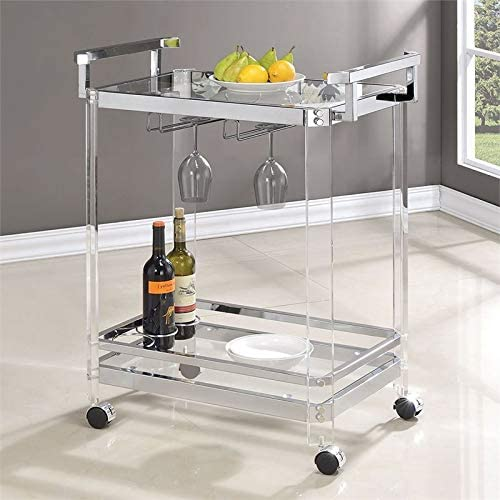 BOWERY HILL Bar Cart in Chrome