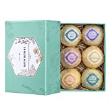 #9: Aprilis Bath Bombs Gift Set, Organic and Natural Bath Bomb Kit, Lush Fizzy Spa to Moisturize Dry Skin, Best Gift Ideas for Women, Girlfriend and Kids, Must-have Bath Products, 6 x 4.0 oz