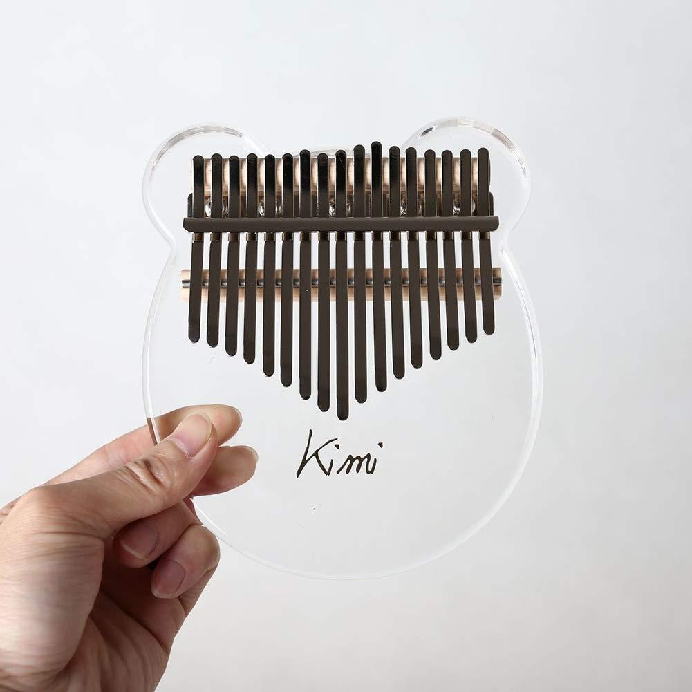 SimpleMfD Instruments de musique Kalimba Clavier transparent en acrylique 17 touches