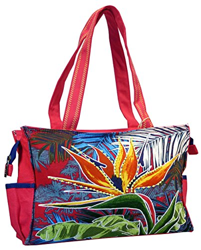 Bird of Paradise Beach Floral Tote - Bird Of Tote Paradise