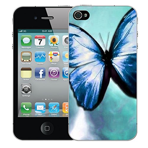 Mobile Case Mate iPhone 5s Silicone Coque couverture case cover Pare-chocs + STYLET - Blue Enderment pattern (SILICON)