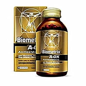 Biometrix A-OX Antioxidant With Multivitamins And Minerals Plus Ginseng And Ginkgo Biloba 60 Capsules