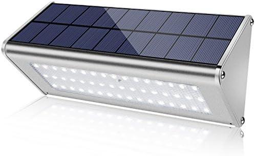 Super Bright 48 LED 1100 Lumens Max Wireless Water Proof Solar Lights Outdoor Radar Motion Sensor Light Aluminum Housing for Outdoor Security Yard Driveway Garage Wall Light,1 Pack New Upgrade 2018