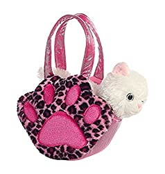 Aurora World Fancy Pals Pet Carrier, Paws, White Kitty