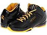 AND1 Master 2 Mid Men's Basketball Shoes (18, Black/Black/Gold)