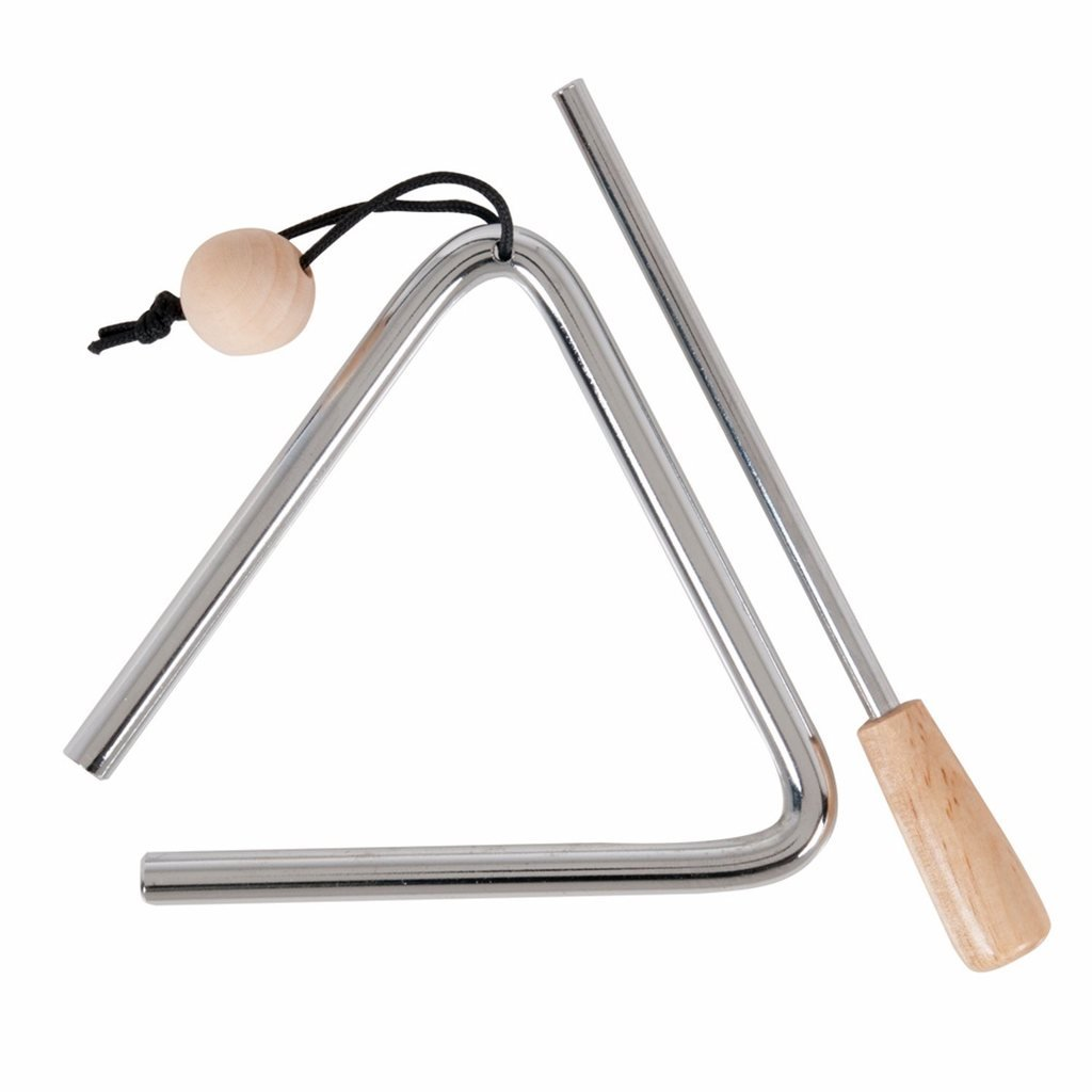 Steel Triangle with Striker - 4 inch