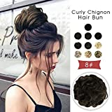 Vlasy Scrunchie Bun Updo Hairpiece Synthetic Hair Bun Extensions Messy Hair Scrunchies For Women Messy Donut Hair Chignons Thick (Large, 8#)