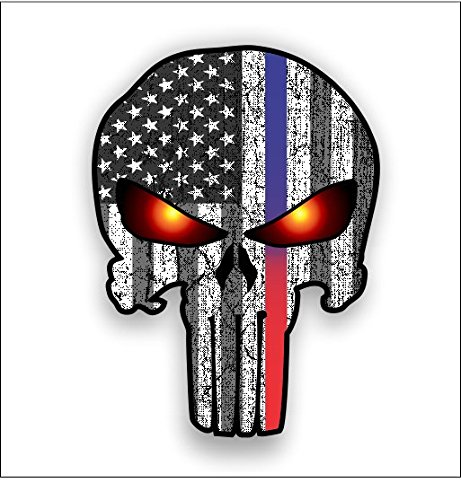 Punisher American Glowing sticker Shipping