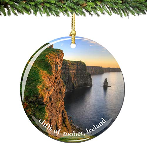 Ireland Ornaments - City-Souvenirs Cliffs of Moher Ireland Christmas Ornament Porcelain Double Sided