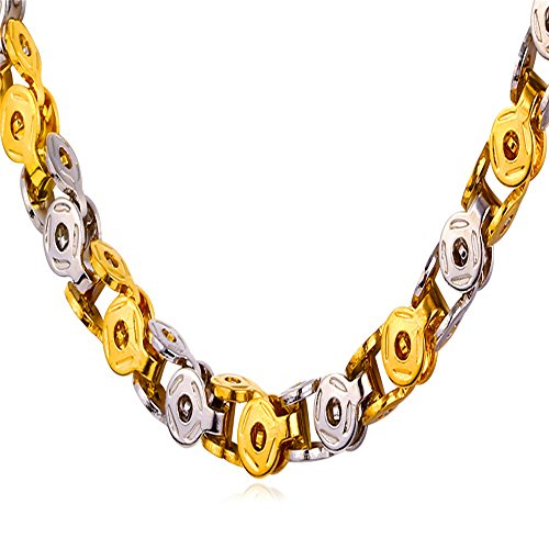 U7 Plated Yellow Stainless Necklace