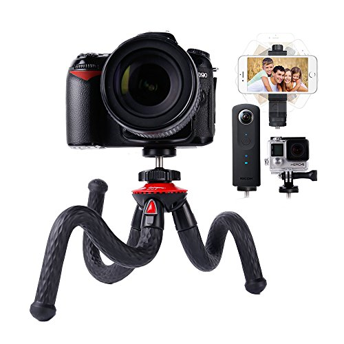 Camera Travel Tripod Lammcou Durable Tripod Sturdy Tripod Flexible Tripod Smartphone Tripod 3in1 Cell Phone + Action Camera Tripod for Canon Nikon Sony DSLR Cam/Gopro Action Cam/iPhone/Samsung Tripod (Pro Mount Hero 4 Go Fence)