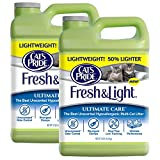 Cat's Pride Fresh and Light Ultimate Care Lightweight Unscented Hypoallergenic Multi-Cat Litter, 10-Pound Jug, 2-Pack