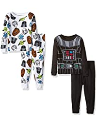 Star Wars Boys' Toddler 4-Piece Pajama Set