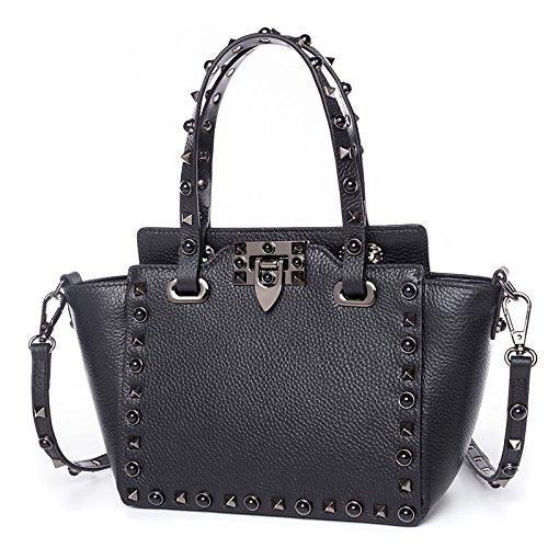 de main sac cuir de à à de rivet sac main Sac sac diagonale à sac de de de de à main main Black en diagonale w7O5dCq