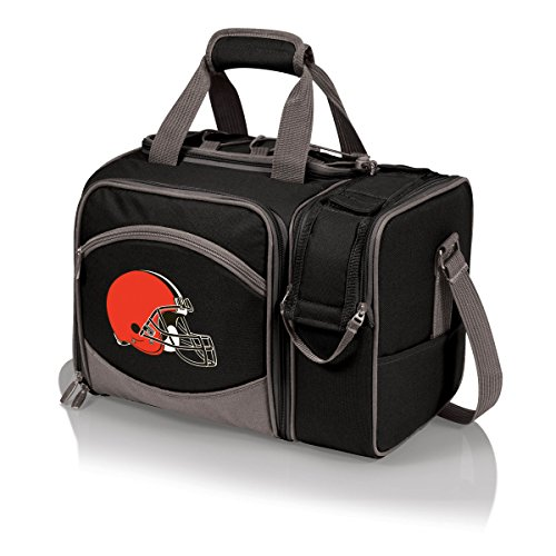 - PICNIC TIME NFL Cleveland Browns Malibu Insulated Shoulder Pack with Deluxe Picnic Service for Two