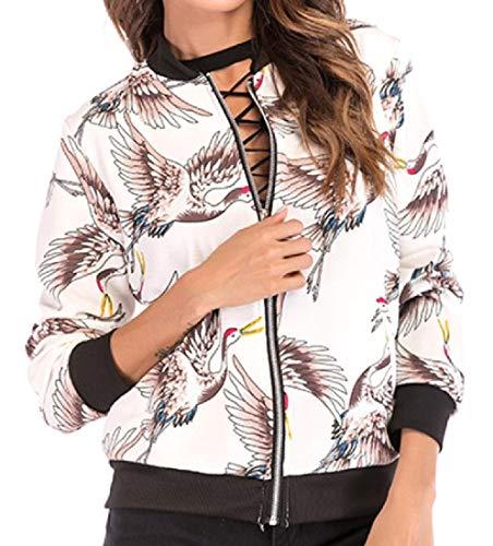 Mogogo Women's Fashion Digital Print Classic Fit Varsity Jacket 1