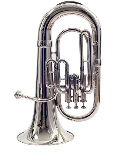 NASIR ALI NEW STUDENT MODEL EUPHONIUM FULL NICKEL LACQUER Bb PITCH WITH FREE CARRY BAG + MOUTH PIECE by NASIR ALI (Image #2)