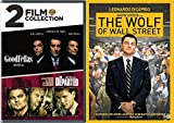 Martin DiCaprio Collection The Departed + Goodfellas & The Wolf of Wall Street 3 DVD Crime Gang Bundle Leonardo & Scorsese