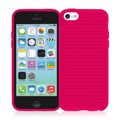 EMPIRE GRUVE Full Schutz TPU Case Tasche Hülle for Apple iPhone 5C - Magenta Pink Rosa (Displayschut
