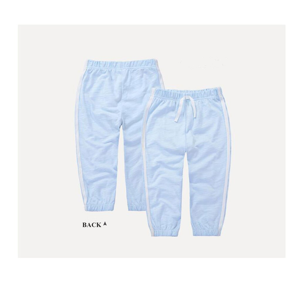 Unisex Cotton Long Trousers Pure Color Joggers Thin Pants Baby Toddler Sweatpant