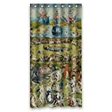 two cool cows - MaSoyy Polyester Hieronymus Bosch Art Painting Bathroom Curtains Width X Height / 36 X 72 Inches / W H 90 By 180 Cm Gift Or Decor For Birthday Kids Girl Lover Bf Couples. Mildew Resistan